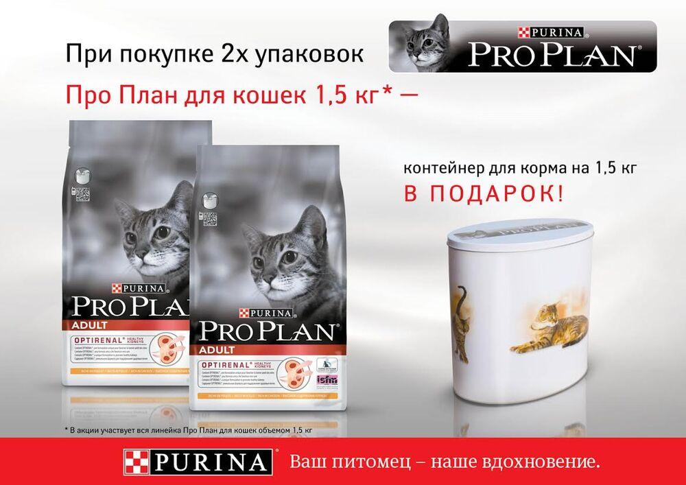 Про план корм для кошек официальный сайт акция