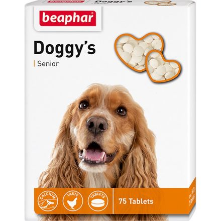 Beaphar `Senior Doggy`s` витам. лакомство для собак старше 7 лет с L-карнитином75 табл.