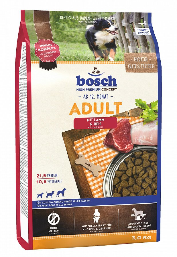 Bosch Adult Lamb & Rice Корм для собак Ягненок с Рисом