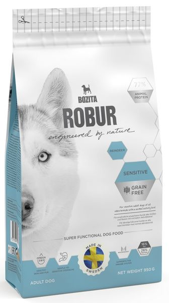 BOZITA ROBUR Sensitive Grain Free Reindeer Олень 26/16
