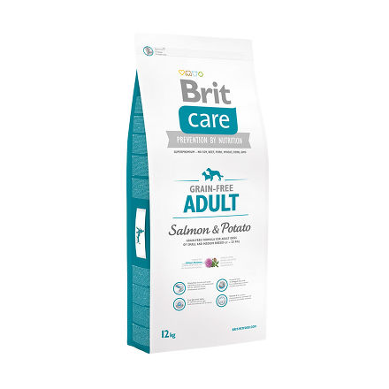 BRIT CARE SALMON & POTATO 12 кг беззерновая формула с лососем и картофелем для собак всех пород