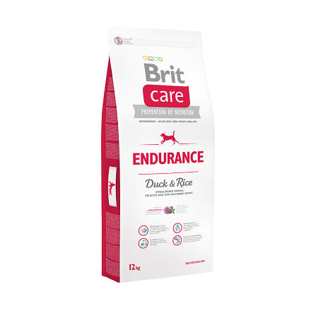 BRIT CARE ENDURANCE 12 кг гипоаллергенная формула с уткой и рисом для активных собак