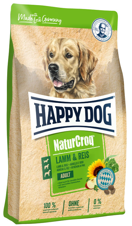 HAPPY DOG NaturCroq Lamm&Reis сухой корм для собак ягненок рис