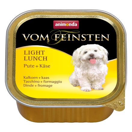 ANIMONDA Vom Feinsten Light Lunch конс. 150 гр. облегченное меню индейка / сыр для собак